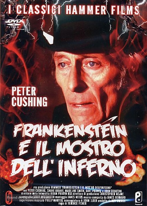 Frankenstein and the Monster from Hell - Italian DVD movie cover