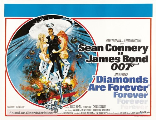 Diamonds Are Forever - British Theatrical movie poster