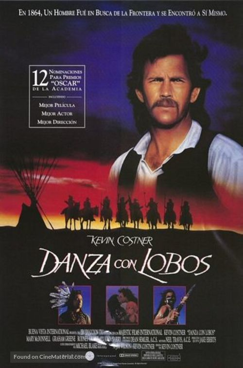 Dances with Wolves - Argentinian Movie Poster