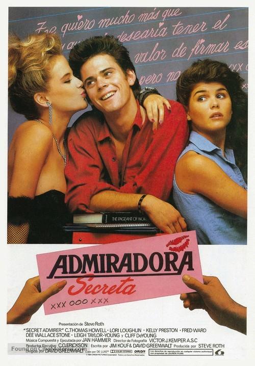 Secret Admirer - Spanish Movie Poster