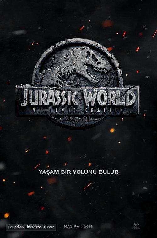 Jurassic World: Fallen Kingdom - Turkish Movie Poster