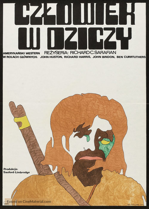 Man in the Wilderness - Polish Movie Poster