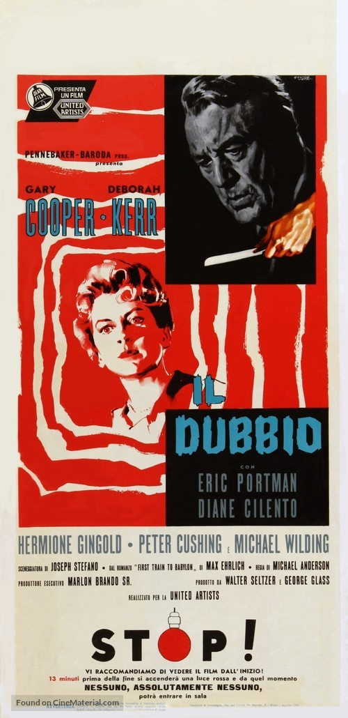 The Naked Edge - Italian Movie Poster