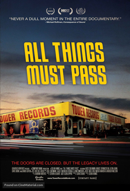 All Things Must Pass - Movie Poster
