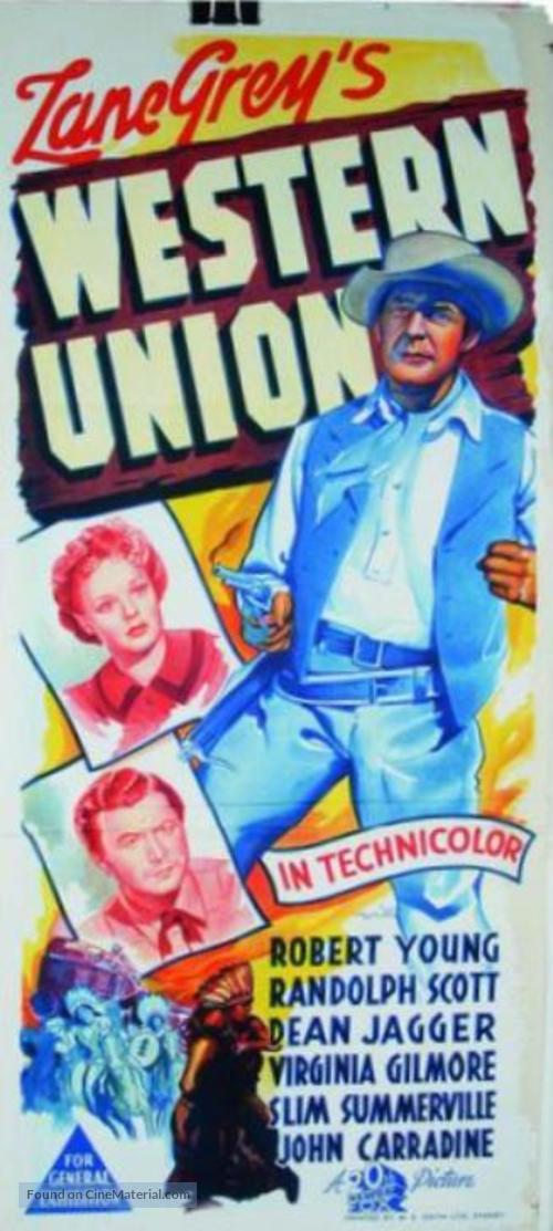 Western Union - Australian Movie Poster