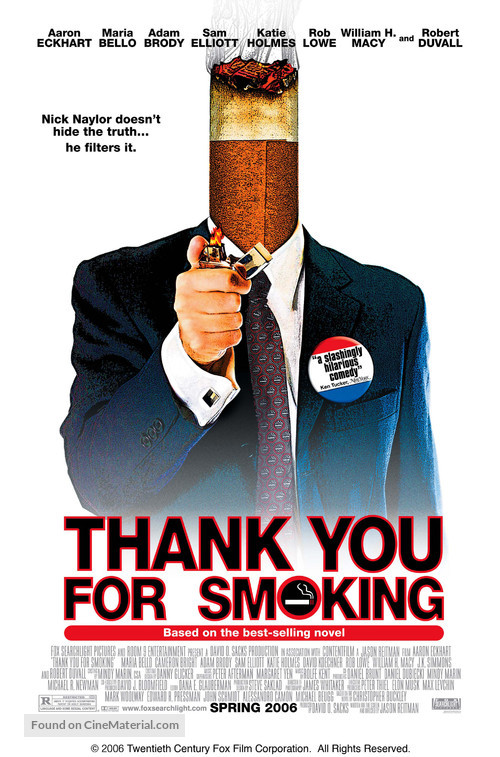 Thank You For Smoking - Movie Poster