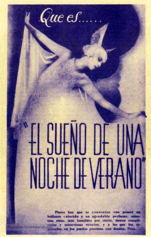 A Midsummer Night's Dream - Spanish Movie Poster