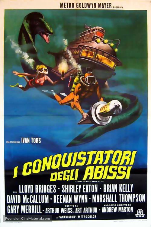 Around the World Under the Sea - Italian Movie Poster