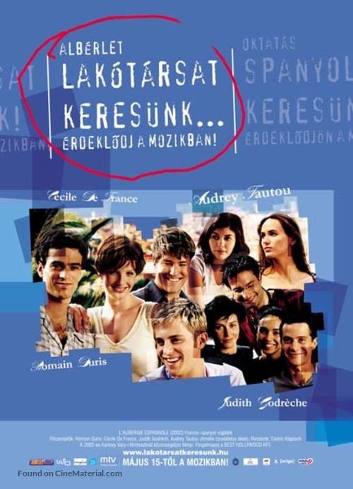 L'auberge espagnole - Hungarian Movie Poster