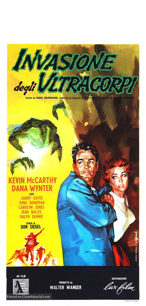 Invasion of the Body Snatchers - Italian Theatrical movie poster