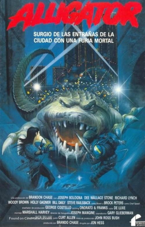 Alligator II: The Mutation - Spanish VHS movie cover