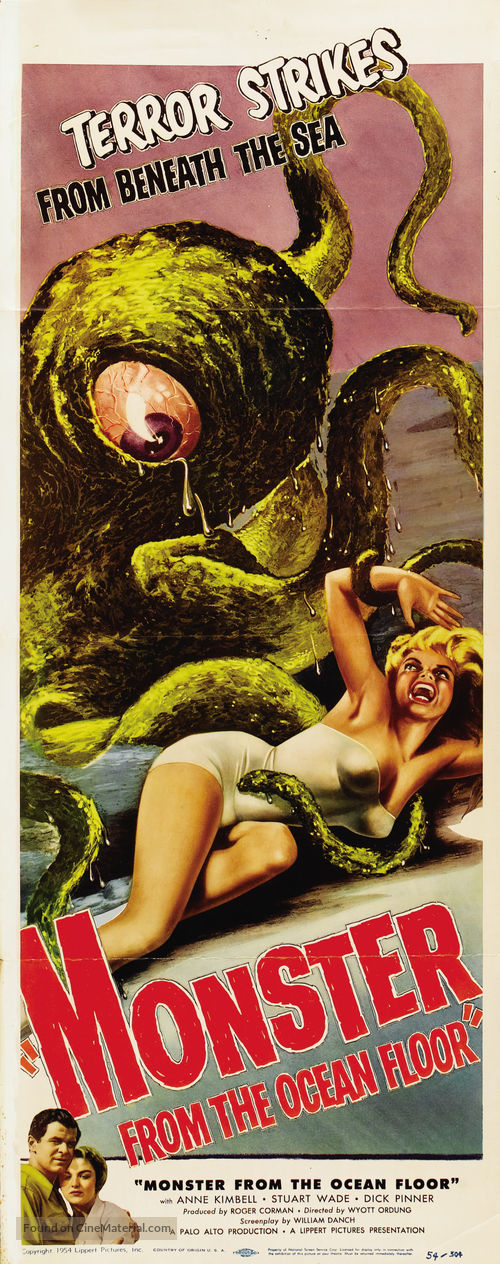 Monster from the Ocean Floor - Movie Poster