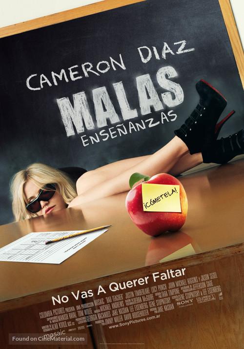 Bad Teacher - Argentinian Movie Poster