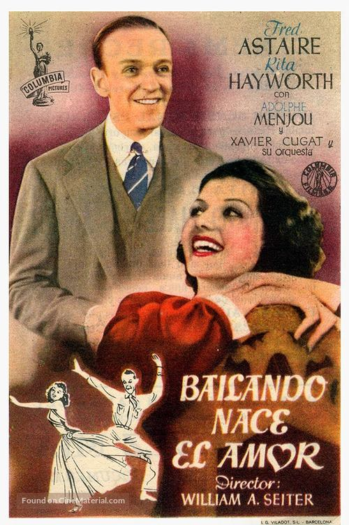 You Were Never Lovelier - Spanish Movie Poster