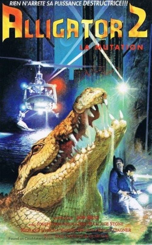 Alligator II: The Mutation - French VHS movie cover
