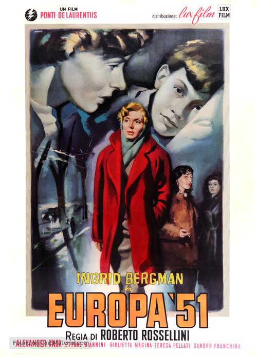 Europa '51 - Italian Movie Poster