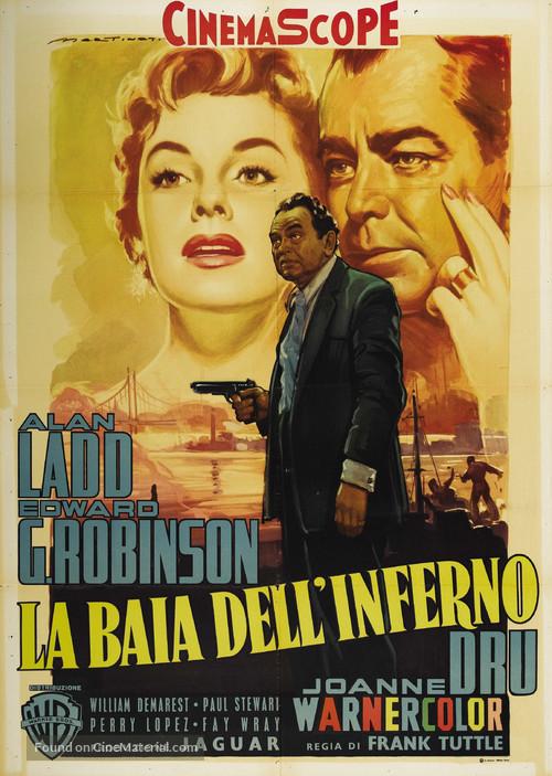 Hell on Frisco Bay - Italian Movie Poster