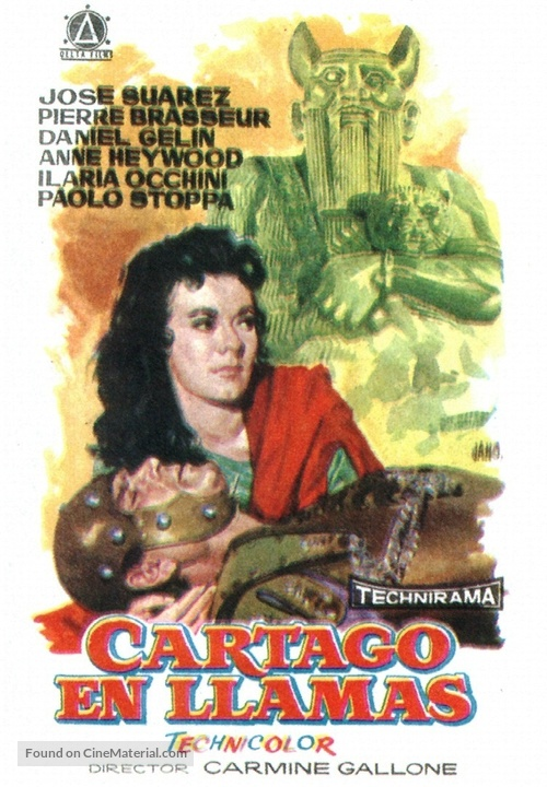 Cartagine in fiamme - Spanish Movie Poster