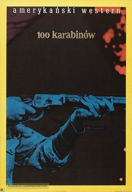 100 Rifles - Polish Movie Poster