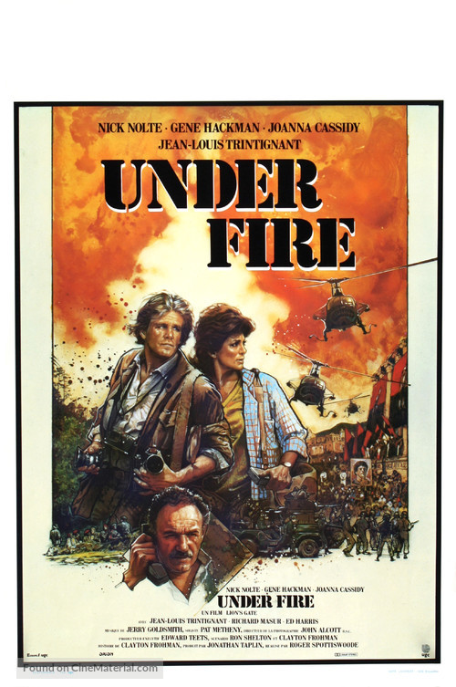 Under Fire - Belgian Movie Poster