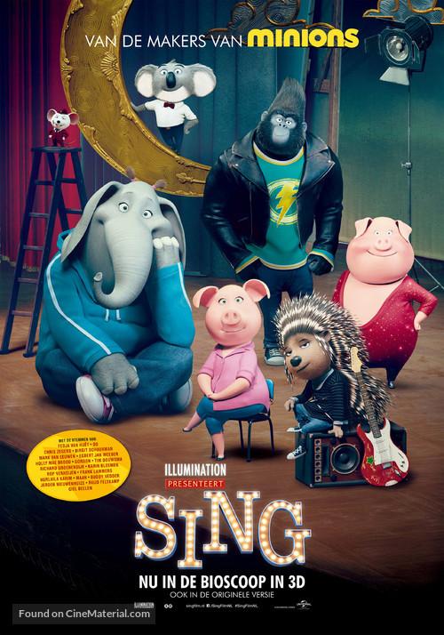 Sing - Dutch Movie Poster