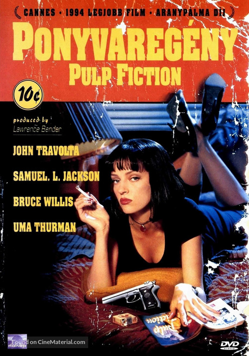 Pulp Fiction - Hungarian DVD movie cover