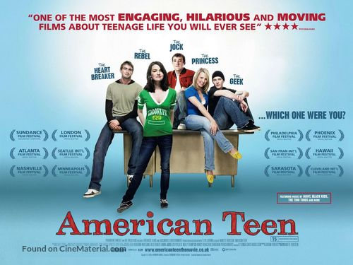 American Teen - British Movie Poster