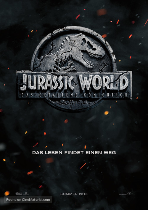 Jurassic World: Fallen Kingdom - German Movie Poster