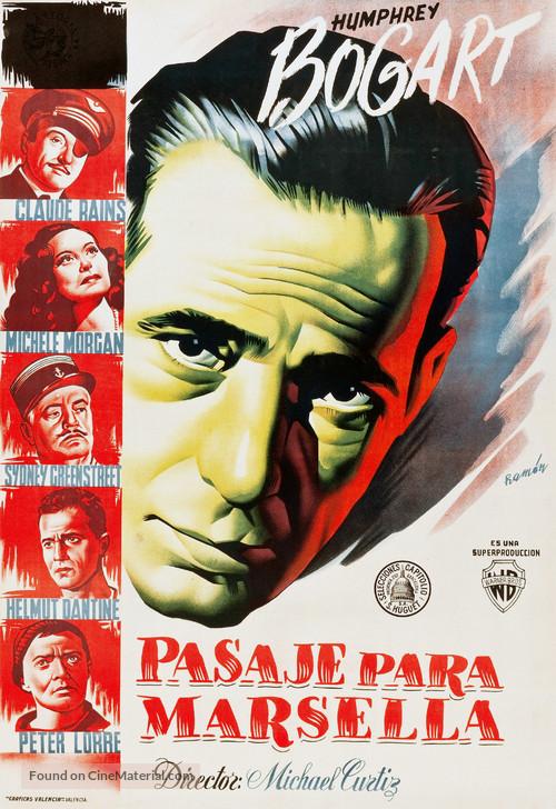 Passage to Marseille - Spanish Movie Poster