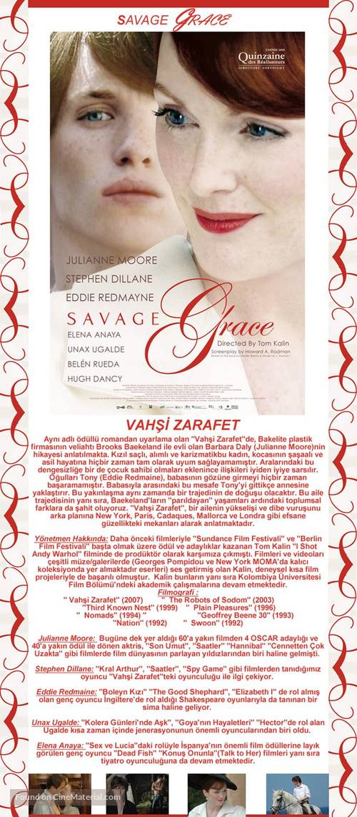 Savage Grace - Turkish Movie Poster