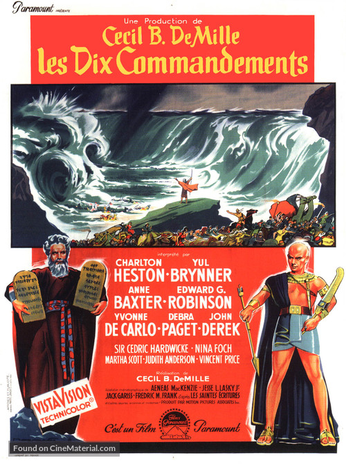 The Ten Commandments - French Movie Poster