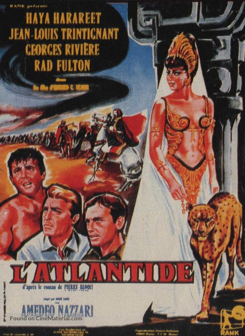 L'Atlantide - French Movie Poster