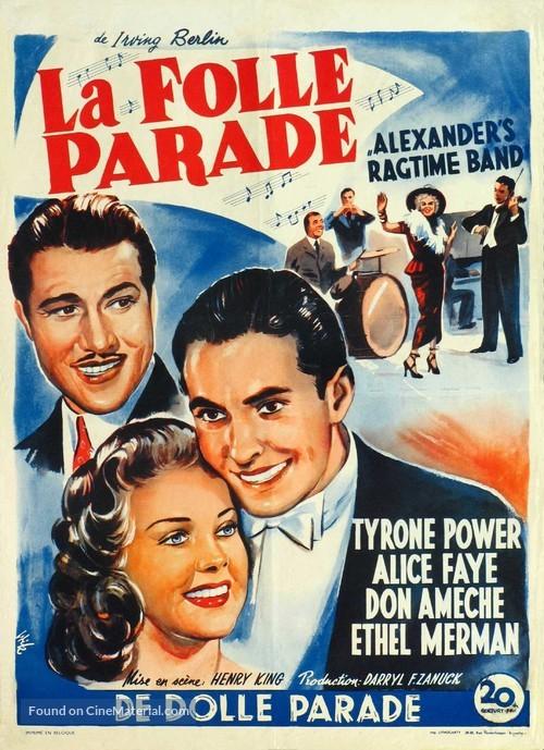 Alexander's Ragtime Band - Belgian Movie Poster