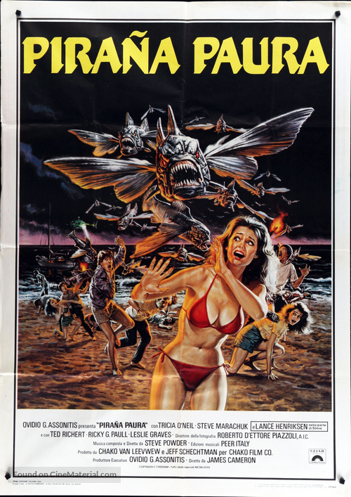 Piranha Part Two: The Spawning - Italian Movie Poster