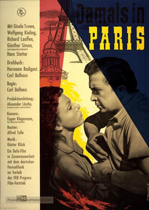 Damals in Paris - German Movie Poster