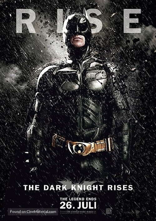 The Dark Knight Rises - German Movie Poster
