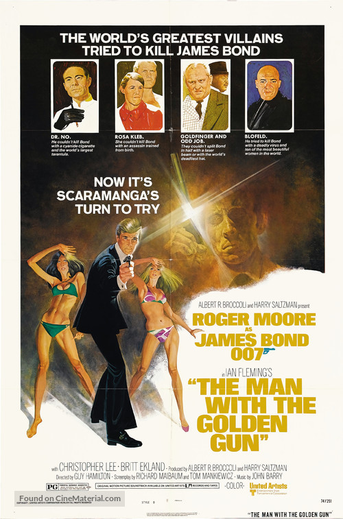 The Man With The Golden Gun - Movie Poster