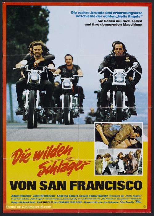 Hells Angels on Wheels - German Movie Poster