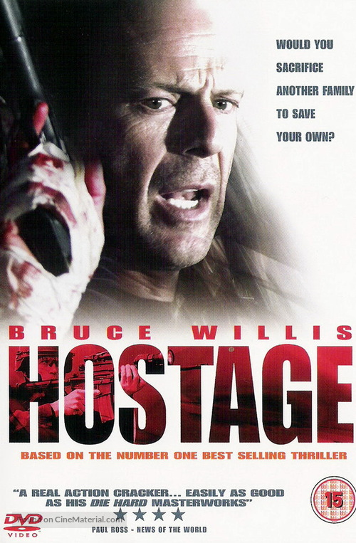 Hostage - British DVD cover
