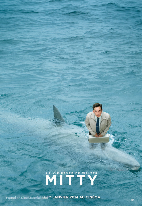 The Secret Life of Walter Mitty - French Movie Poster