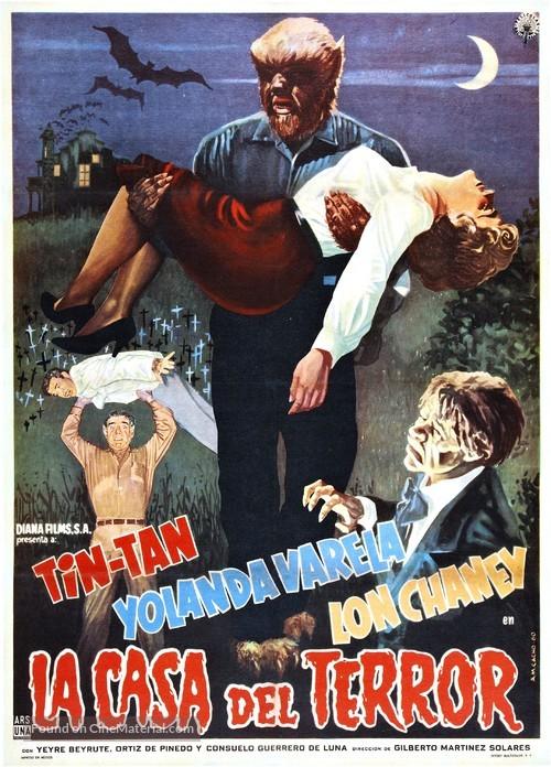 La casa del terror - Mexican Movie Poster