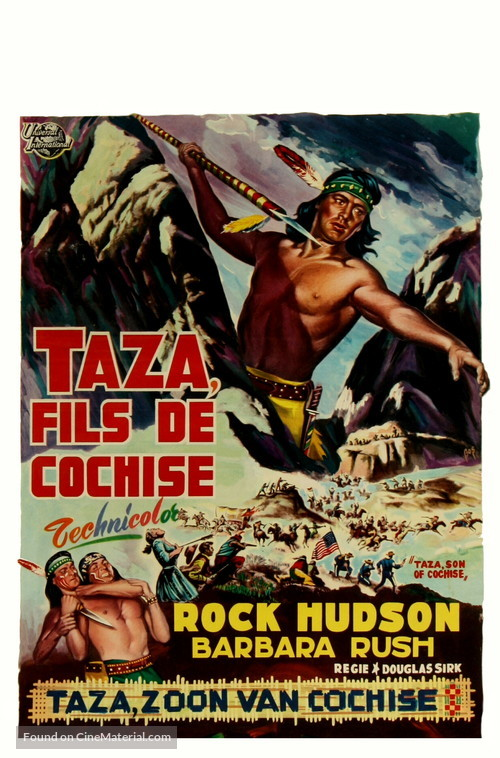 Taza, Son of Cochise - Belgian Movie Poster