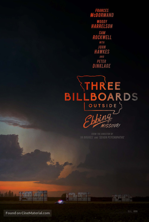 Three Billboards Outside Ebbing, Missouri - Movie Poster