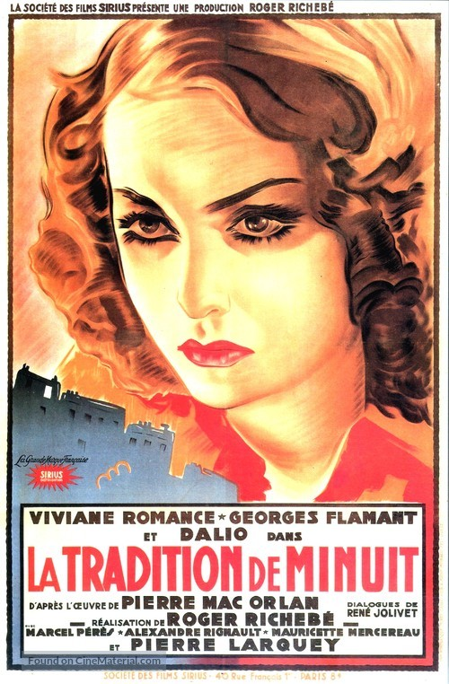 La tradition de minuit - French Movie Poster