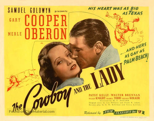 The Cowboy and the Lady - Movie Poster