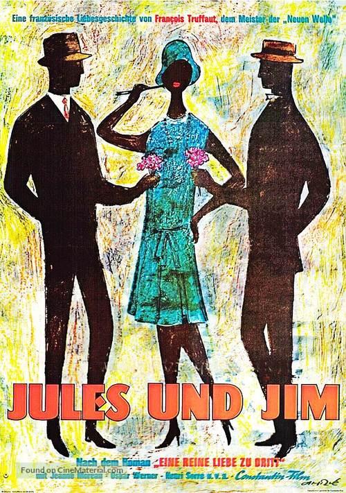 Jules Et Jim - German Movie Poster