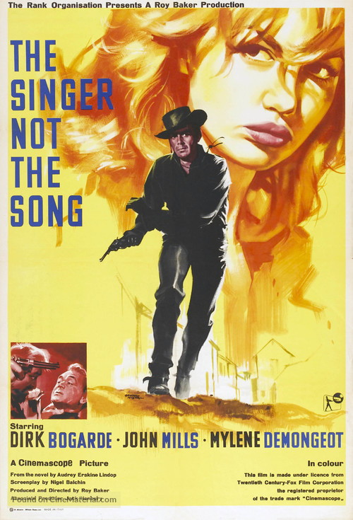 The Singer Not the Song - British Movie Poster