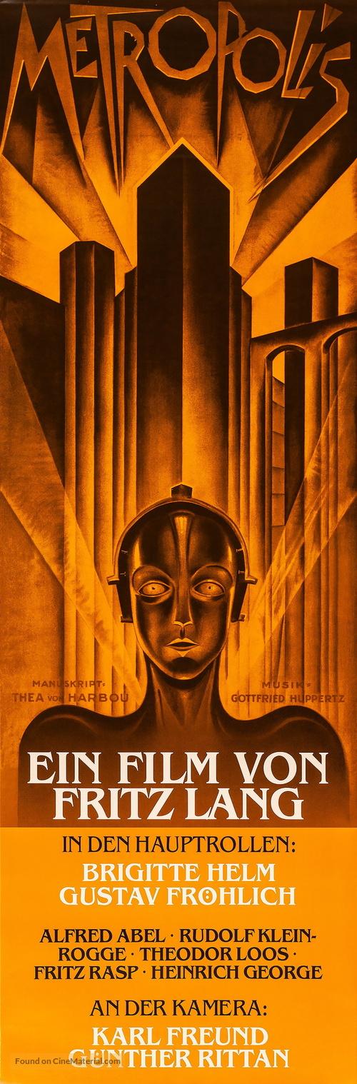 Metropolis - German Re-release movie poster