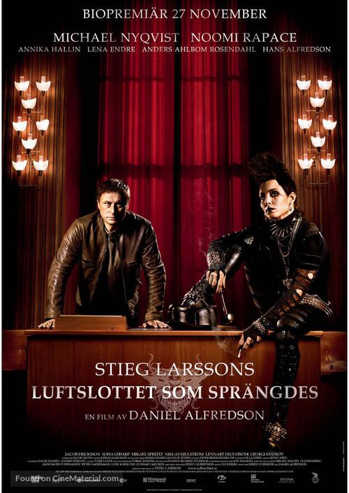 Luftslottet som sprängdes - Swedish Movie Poster