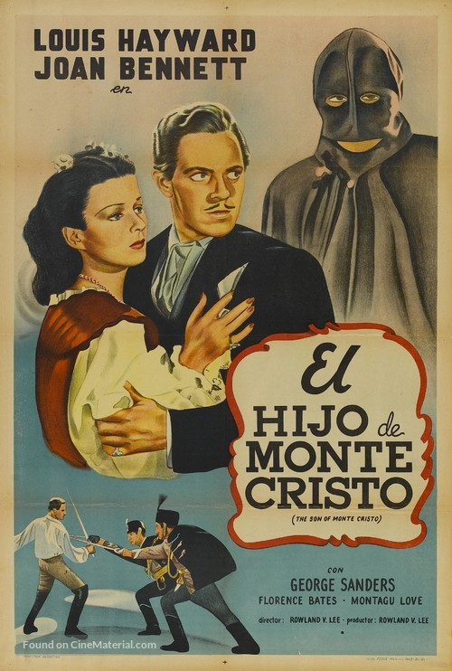 The Son of Monte Cristo - Argentinian Movie Poster